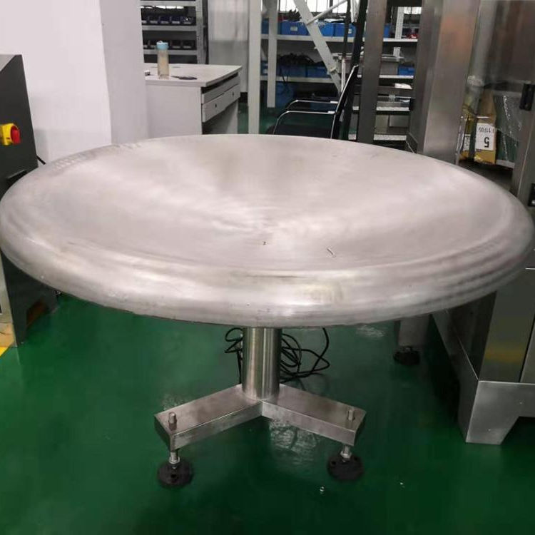 High efficiency rotary packing accumulation turn table