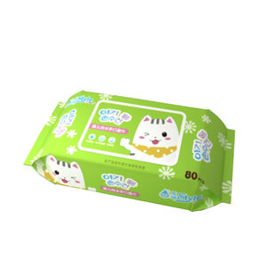 Sample Wipes OEM Baby hand and mouth wipes RO pure water no alcohol no added Baby Care Wipes Spunlace non-woven