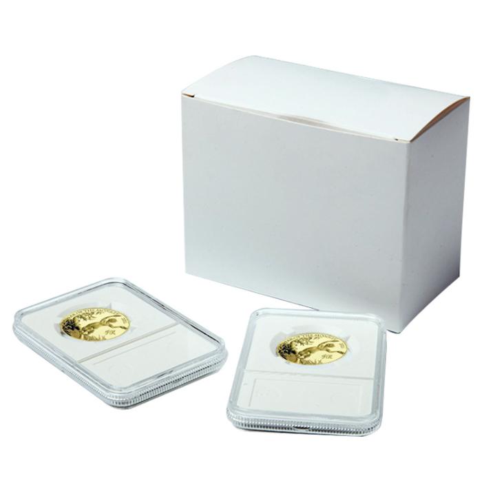 500 BCW Graded Coin Slabs WHITE Inserts QUARTER hard plastic holders CASE