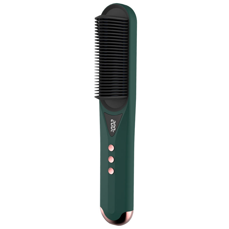 Professional Heater 30s Quickly Heating Hot Comb Electric Hair Beard Straightener Dryer Brush Comb