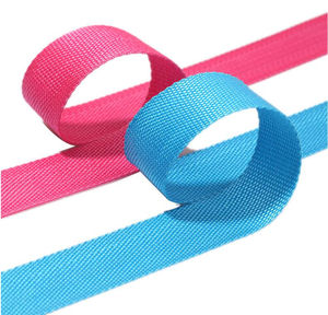 High quality webbing tape ribbon cheap price color flame retardant anti-uv pp yarn
