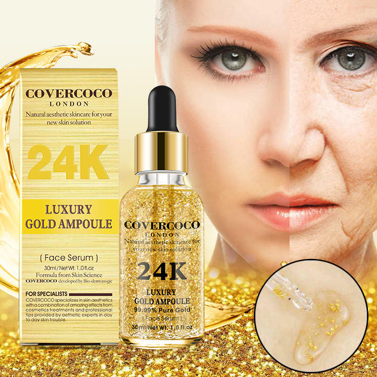Beauty Personal Care 24k Gold Essence Organic SkinCare Hyaluronic Serum Skin Care Anti Aging Collagen Vegan Cosmetics Face Serum