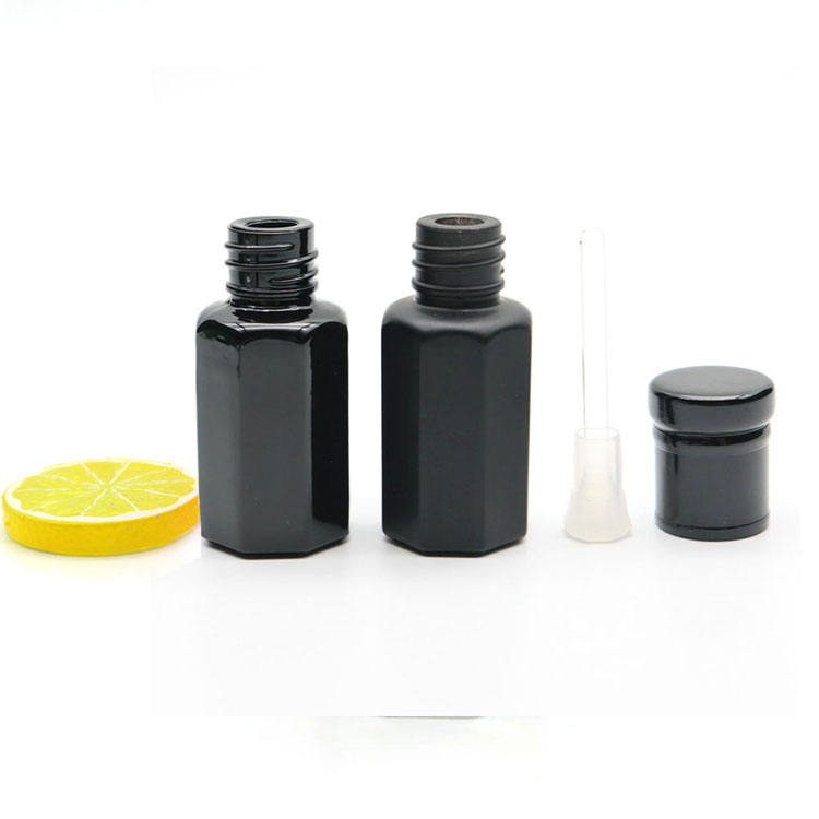 Shiny/Matte 3ml 6ml 12ml Empty Black Attar Oil Perfume Bottle