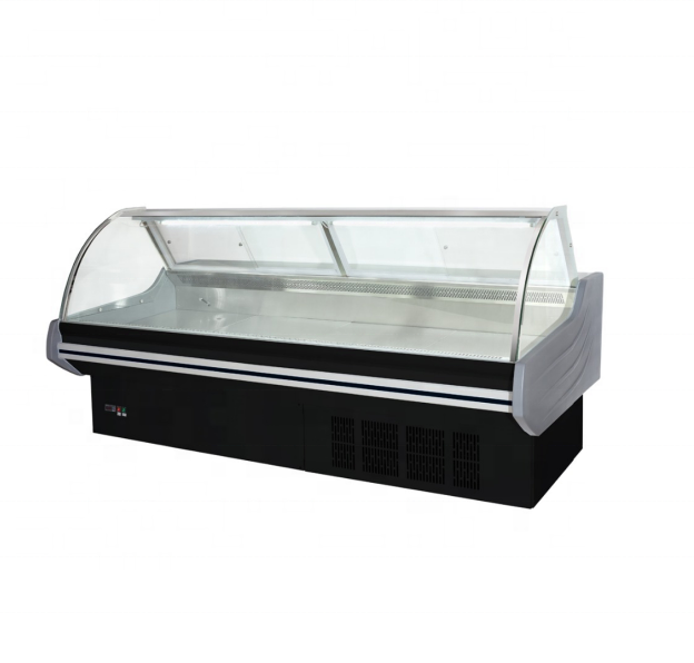 front door fixed commercial refrigeration equipment hot food showcase deli counter