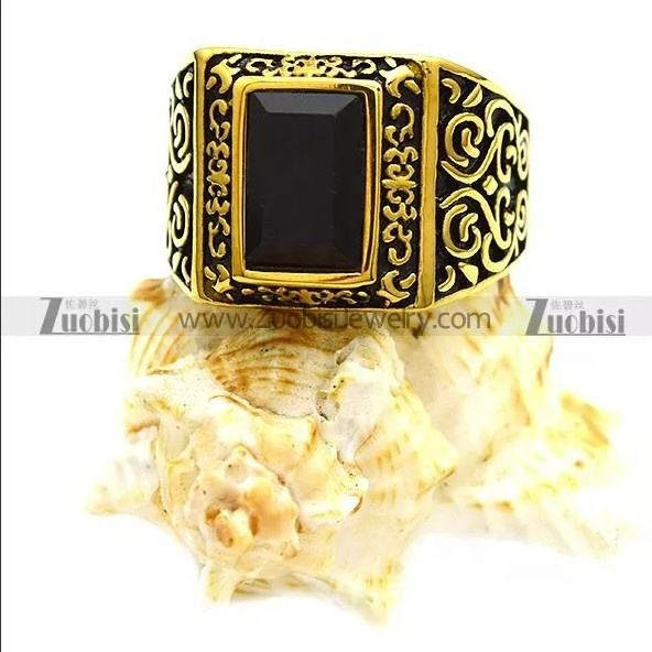 Spot Big Glamour Powerful Agate Rings Jewelry Gold Plated and Silver Stainless Steel Casting Natural Onyx Stone Ring Designs