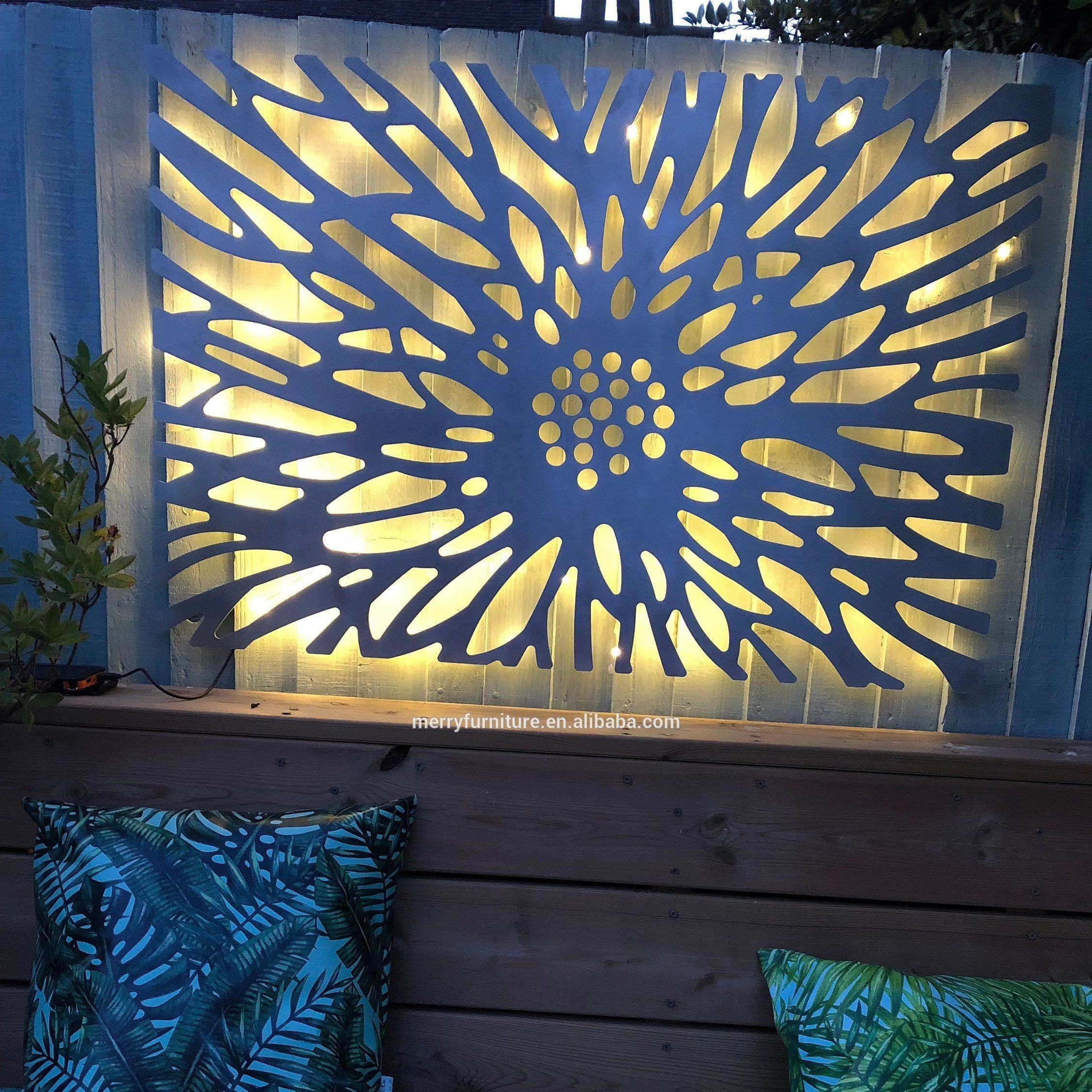 Laser Cut Decorative Metal Wall Art Panel