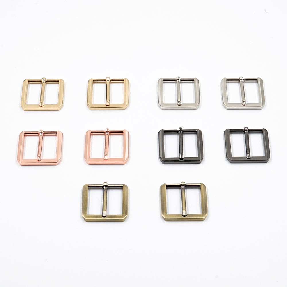 Bag Hardware Gunmetal Silver Rose Gold 25mm Pin Buckle Brushed Bronze Gold 1 Inch Zinc Alloy Metal Pin Buckle Custom for Bags