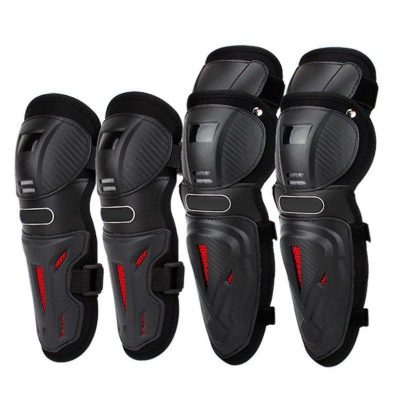 Motorcycle 4 sets Elbow Knee Protector Tactical Protective Racing Motocross Knee Pads Moto Protect Knee