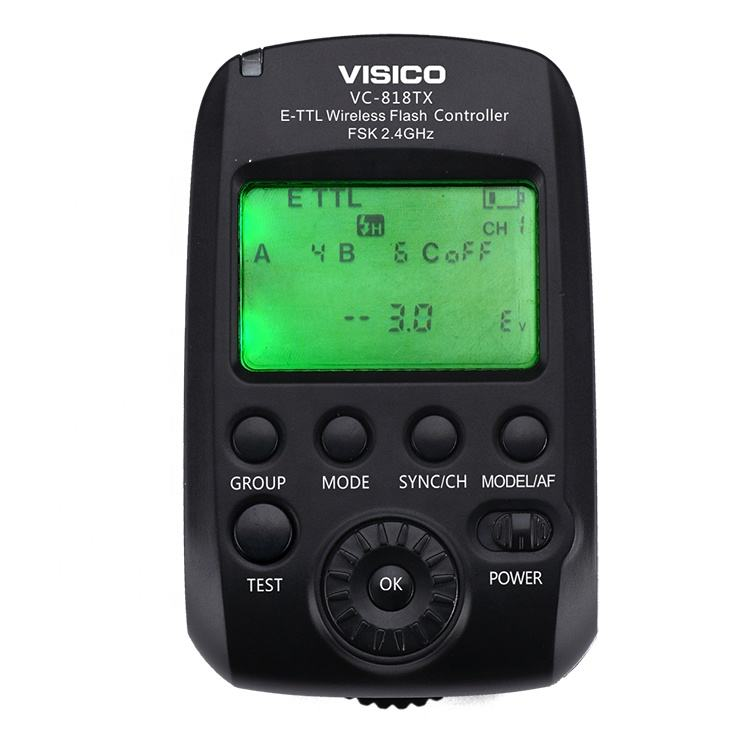 VISICO Wireless TTL HSS 1/8000S Flash Trigger And Remote Controller For Canon Camera And Studio Flash Speedlite