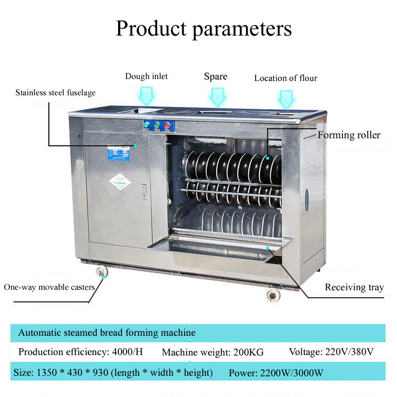 Stainless Steel Steamed Bread Machine Commercial Automatic Steamed Bread Production Machine