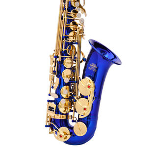 Blue Gold Lacquer Brass Alto Instrument Accessories Professional Eb OEM China Sax Saxophone Alto