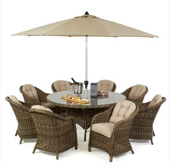 Garden furniture outdoor wicker modern dining tables modern dining tables