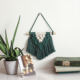 Desk Decor Small Size Desk Wall Hanging Decor Macrame Wall Hanging Tapestry Diamond Green And Ivory Wall Hanging