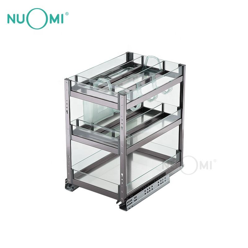 NUOMI Hot Sale Multifunctional Kitchen Cabinet Drawer Basket PURPLE CRYSTAL series