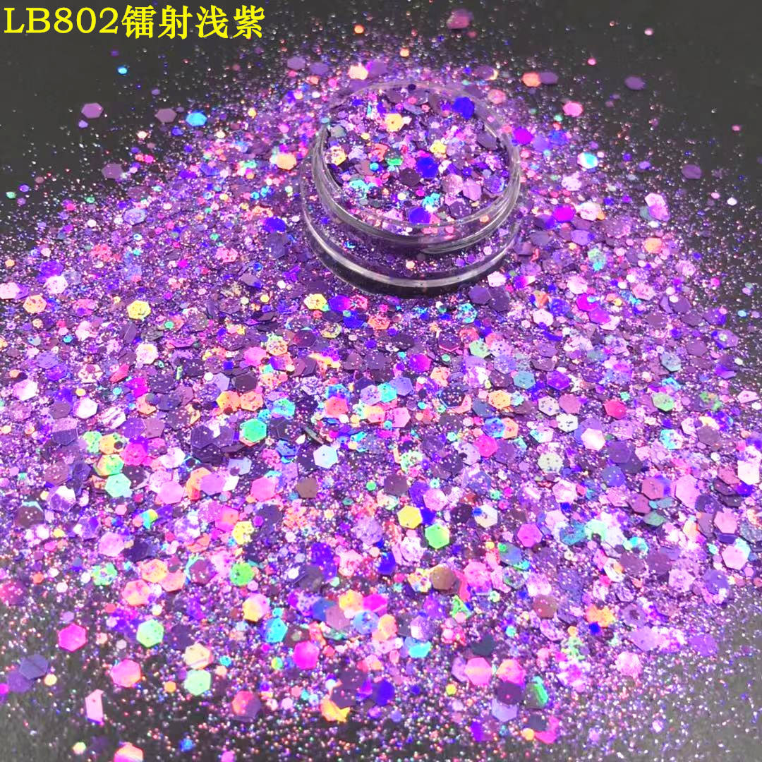 Chunky holographic glitter powder for printing craft gift chemical paint,plastic product