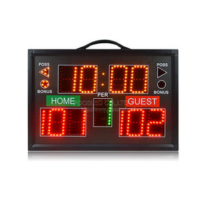Hot sale portable scoreboard RGY led digital electronic basketball scoreboard manual score board for sport games