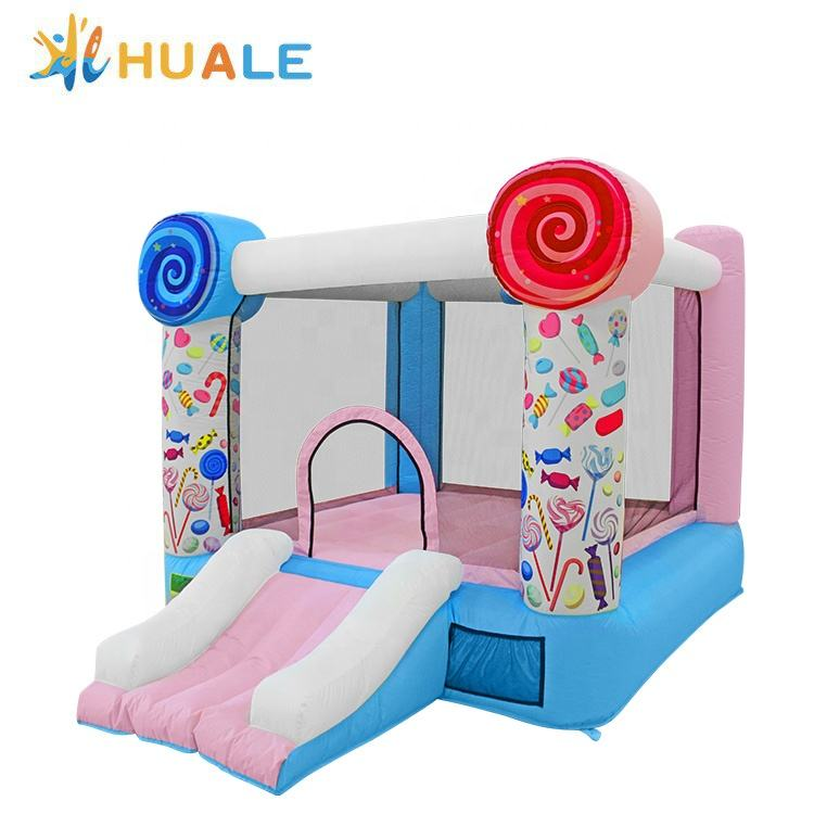 Inflatable Bouncer Candy Theme Bouncer House Inflatable Jumping Bouncy Kids Indoor And Outdoor Toy Home Use Oxford Durable Material Factory Price