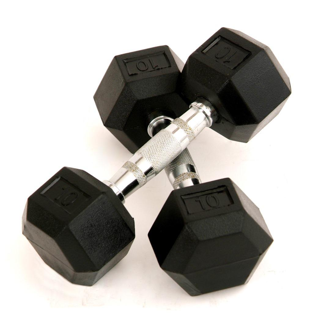 BunnyHi YL005 Gym Equipment Cheap Hexagon Weights 10KGS Dumbbells Sets