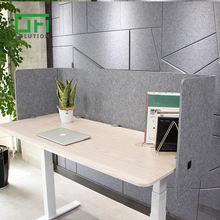 Office Workstation Polyester Fiber U Shape Wrap Desk Partition Screens