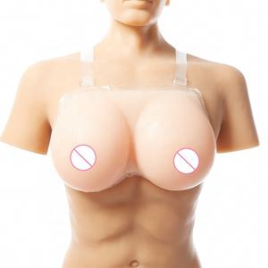 Silicone Wearable Breast Forms Strap on Nipple Boob Bust Enhancer Adjustable for Crossdresser Cosplay and Mastectomy