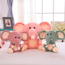 Sell Hot Sale Realistic Silicone Teether Animal Rabbit Superior Quality Promotional Price Purple Pink Elephant Plush Toy