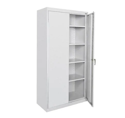 2 Door Bookcase Storage Cupboard Filing Cabinet Home Office Furniture