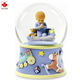 Custom high quality resin handicraft snow globe souvenirs for Newborn baby