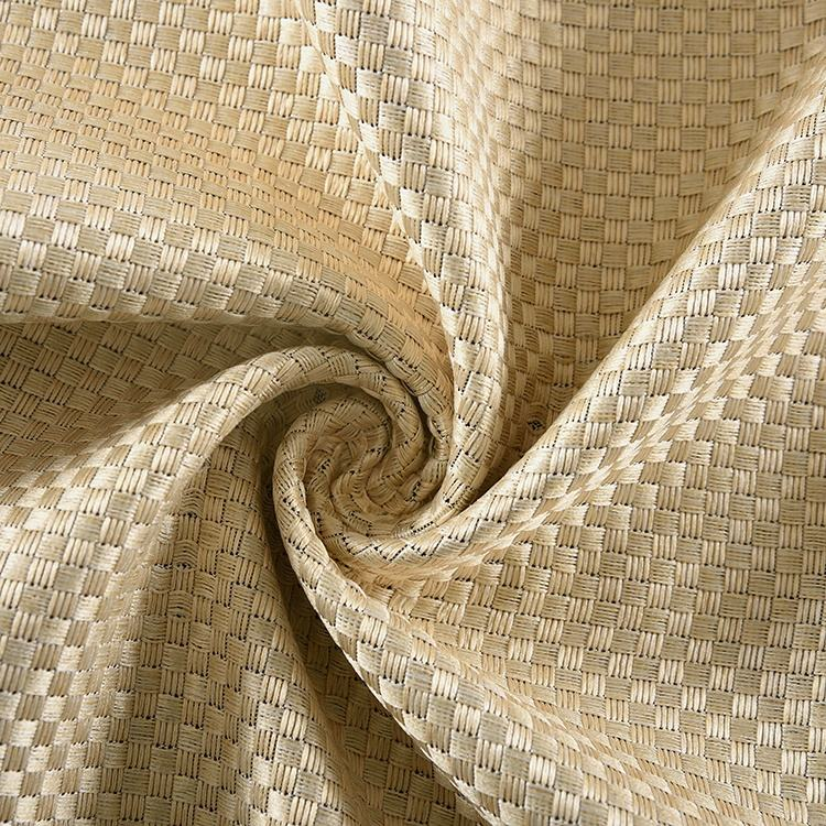 Hometextile Light Luxury Rice Grain Linen Design Fabric For Blackout Curtain