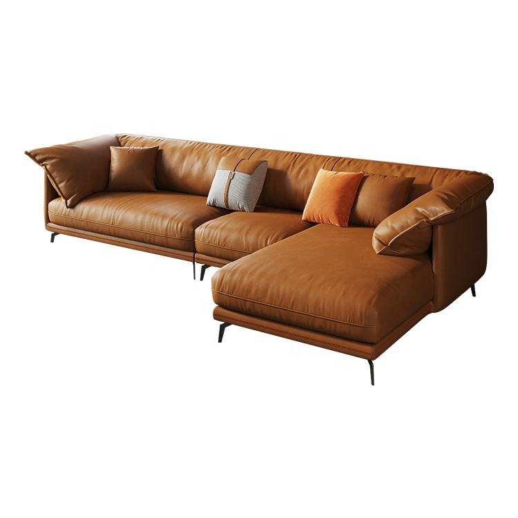 China Factory Provide Modern Design Leather Sofas Home Furniture