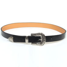 Women PU Leather Belts Ladies Vintage Design Black Waist Belt for Pants Jeans Dresses