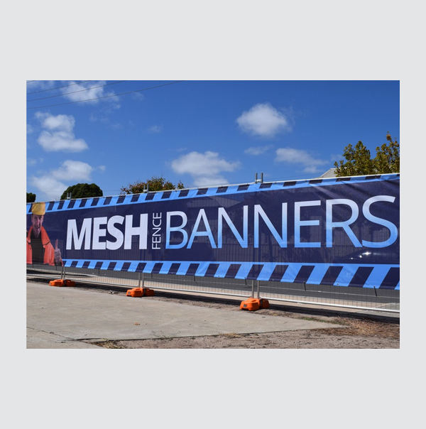 Digital printed advertising custom Fabric flex mesh fence banner with optional Pvc vinyl