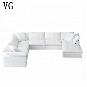Cloud series sofa living room furniture buld living room modern duck feather upholstered sofa