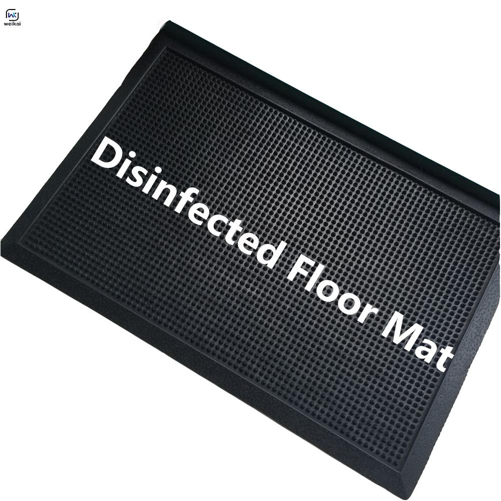 custom Rubber Sanitizing Disinfected Doormats Shoe Foot Door Non-slip Floor Mats