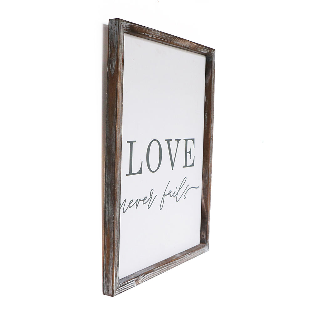Valentine's Day Love Decoration Wooden Frame Mdf Wall Plaque