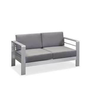 Moderne Resort Metall Outdoor Möbel Hotel Lounge Patio Garten Sofa Set Aluminium