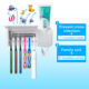 Kids Set Automatic Tube Squeezer And Pump Auto Children Chrome Bathroom Tooth Paste Uv Toothbrush Holder Toothpaste Dispenser