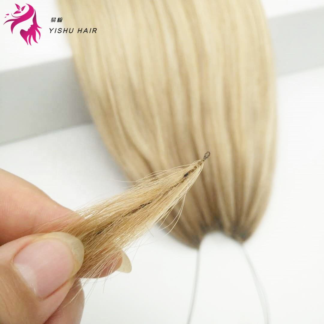 NEW Micro links crochet 100% human hair small circle feather line hair extensions raw unprocessed high quality hair wholesale