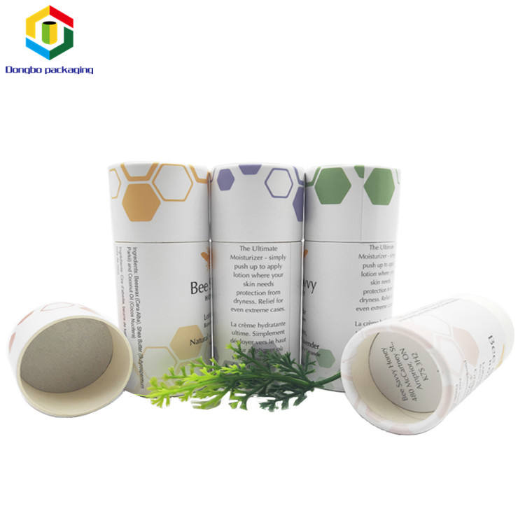 2018 New Recycled Eco Friendly Paper Jar With Wax Oil Proof Paper Tube Packaging
