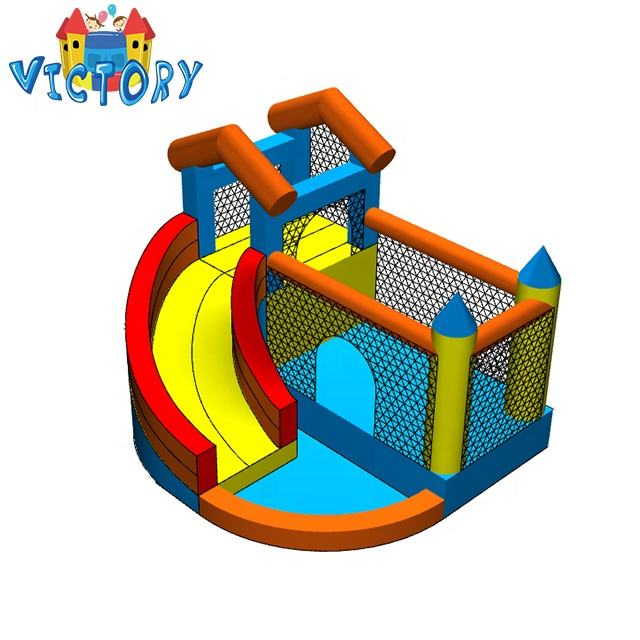 Inflatable Slide Bouncer and Water Park Bounce House w/ Splash Pool Water Cannon