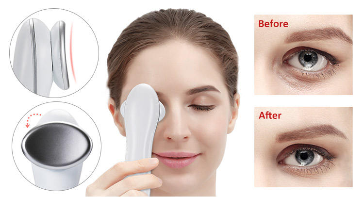 Portable Anti-aging Cool Warm Hammer Eye Face Skin Tightening Instrument Hot and Cold Facial Beauty Device Massager