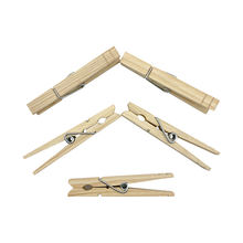 8.4cm Wooden Clothespin Wood Clothes Peg 24pcs/Bag  Economy Pine Wooden Pegs