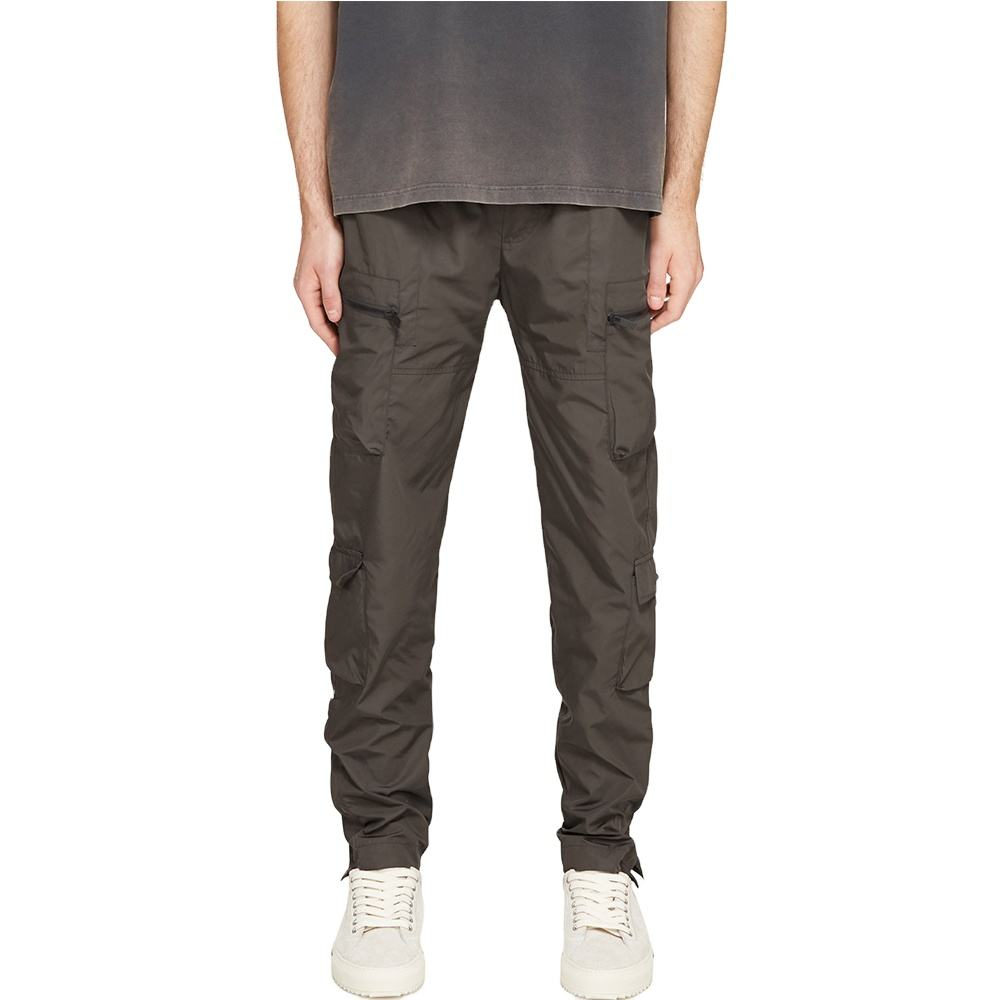 Men's Lightweight Nylon Military Zip Pockets Track Pants