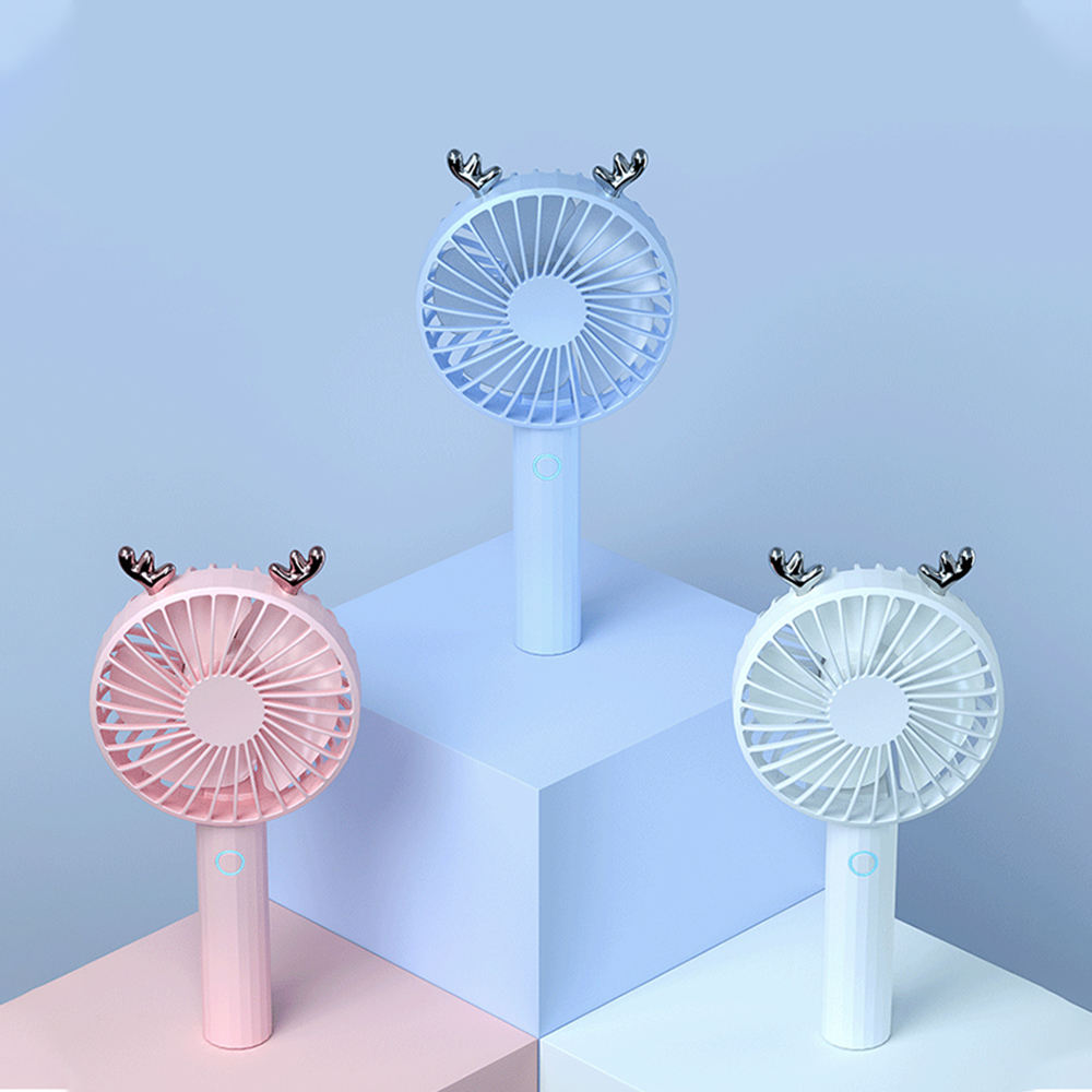 DIVI New Handheld Battery Operated Rechargeable Mini USB Desk Fan for Summer Gifts