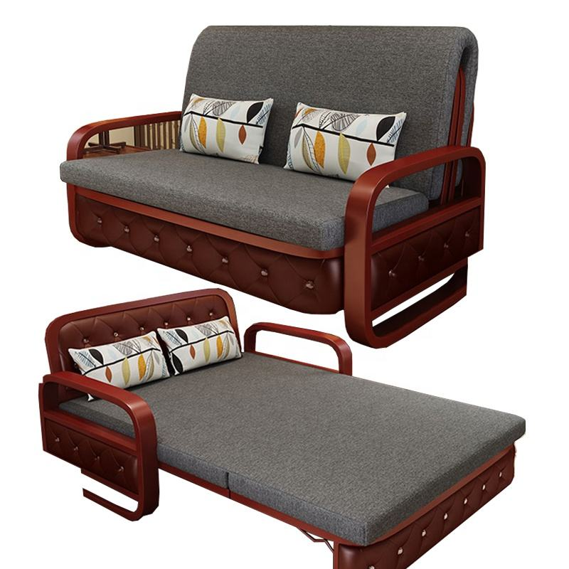 High Quality Pull Out Sofa Bed With Armchair Three Seats Couch Convertible Sofa Cum Bed