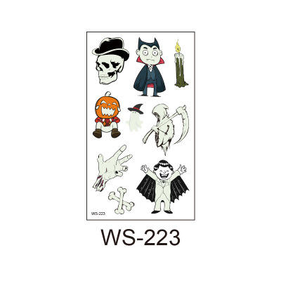 Wholesale Custom Top Fashion Halloween High Quality Waterproof And Sweatproof Temporary Luminous Tattoo Stickers