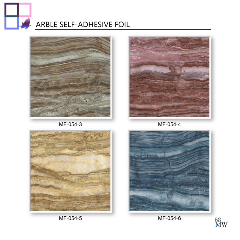 Marble design pvc decor furniture foil pvc panel peel and stick 3D printing wall papers for home