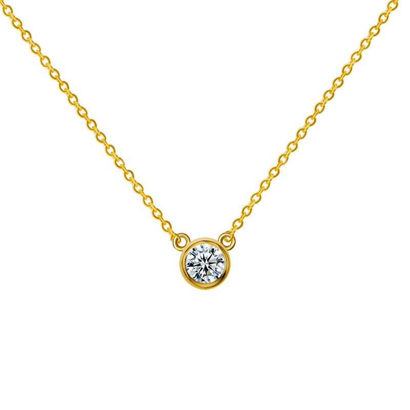2020 hot sale 14K yellow gold chocker lab grown diamond necklace