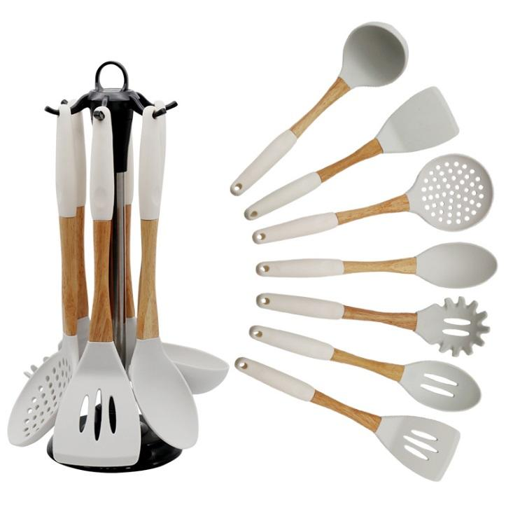Food Grade Wholesale Silicone Personalized Kitchen Utensil Set Modern Baking Cooking Tools Best Selling Products