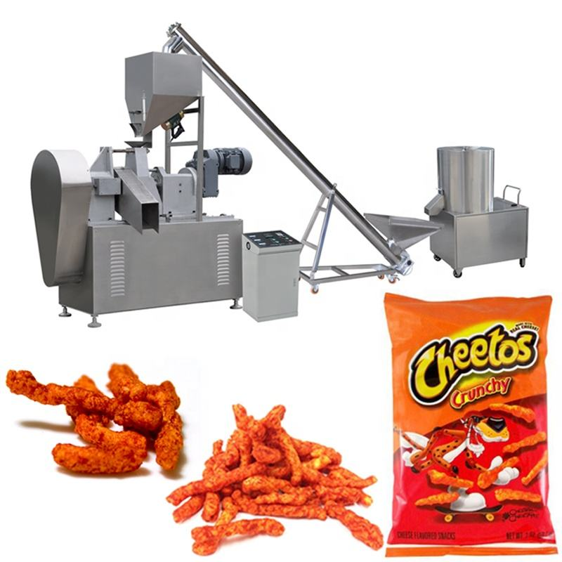 cheetos namkeen kurkure snack chips making extruder machine production line plant price