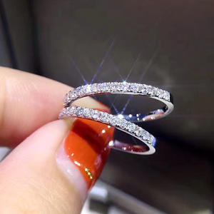 New style elegant fashion S925 silver Rings Wholesale jewelry simple thin for lady